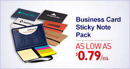 Business Card Promotional Self-Adhesive Note & Logo Flags Pack