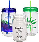Mason Jar Style Mugs & Glasses