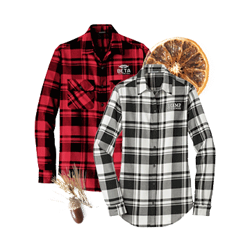Custom Plaid Holiday Flannel Shirts