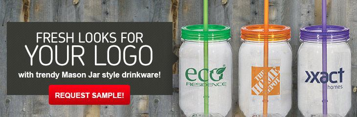Promotional Mason Jar Glasses & Mugs