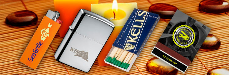 Promotional Matches, Lighters, Matchboxes & More